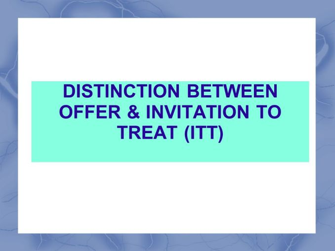 Distinguish between offer and invitation to treat invsite contract law difference between offer and invitation to treat stopboris Choice Image