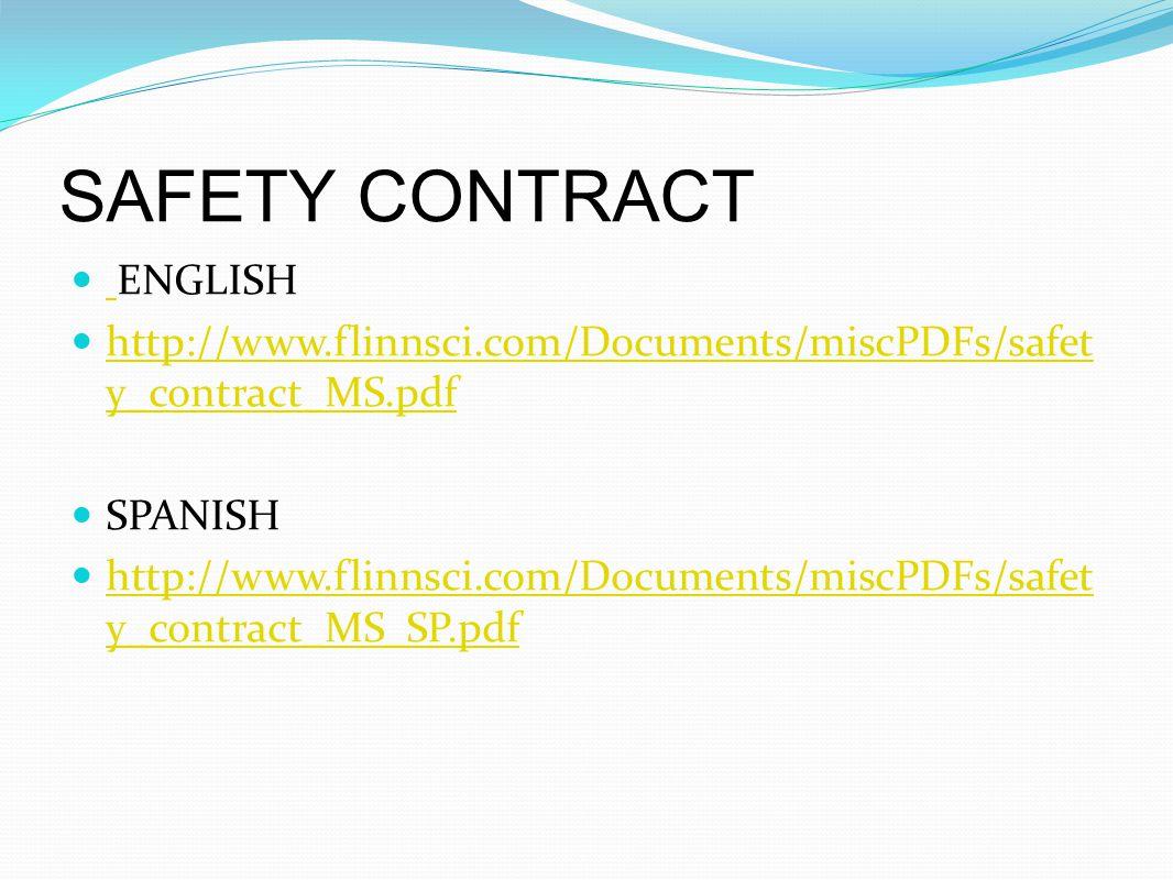 Flinn Lab Safety Contract