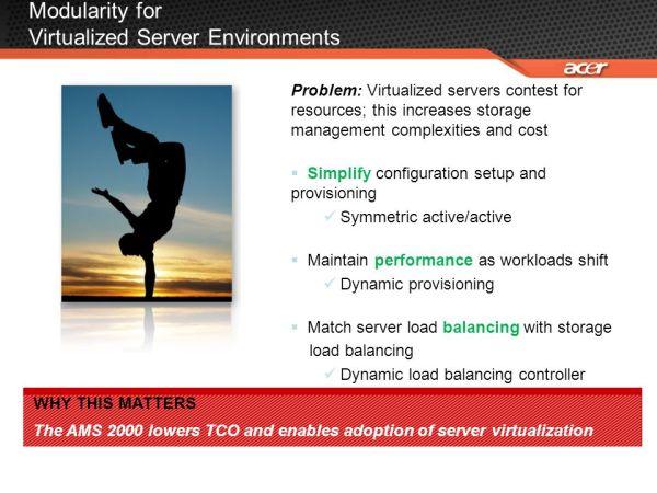 Acer and Hitachi Adaptable Modular Storage (AMS) 2100 ...