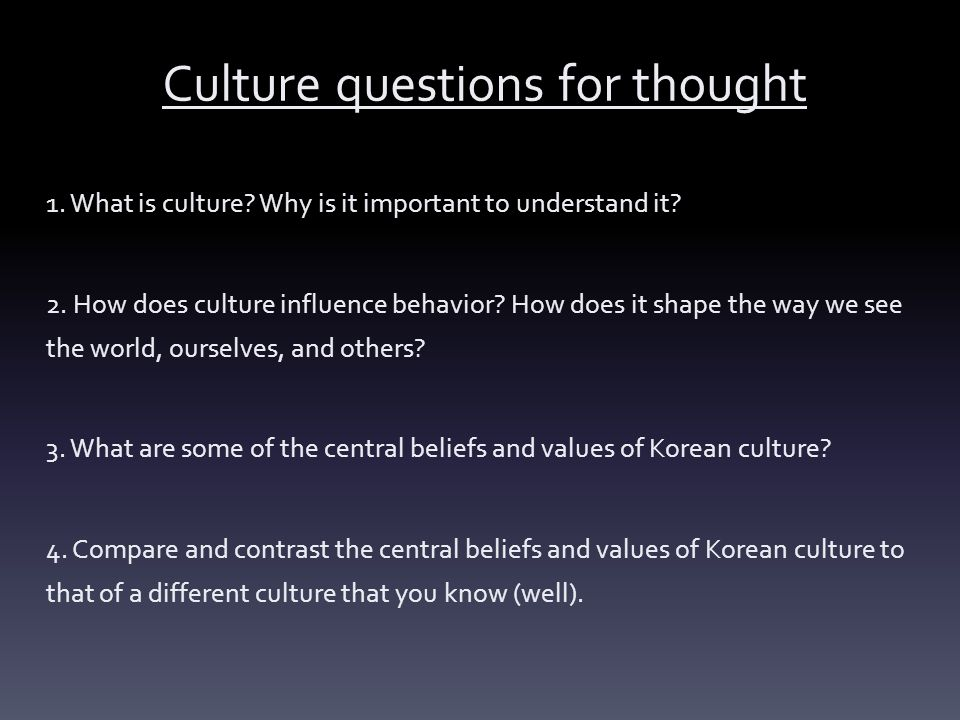 different characteristics of culture