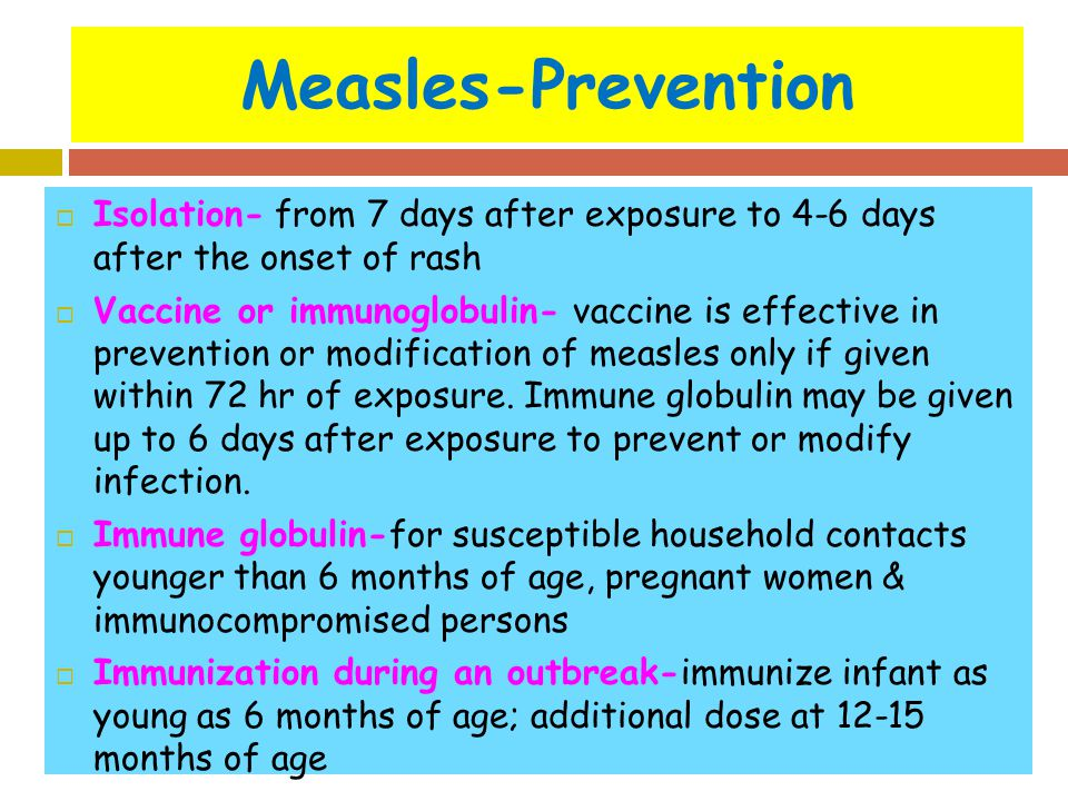How Prevent German Measles
