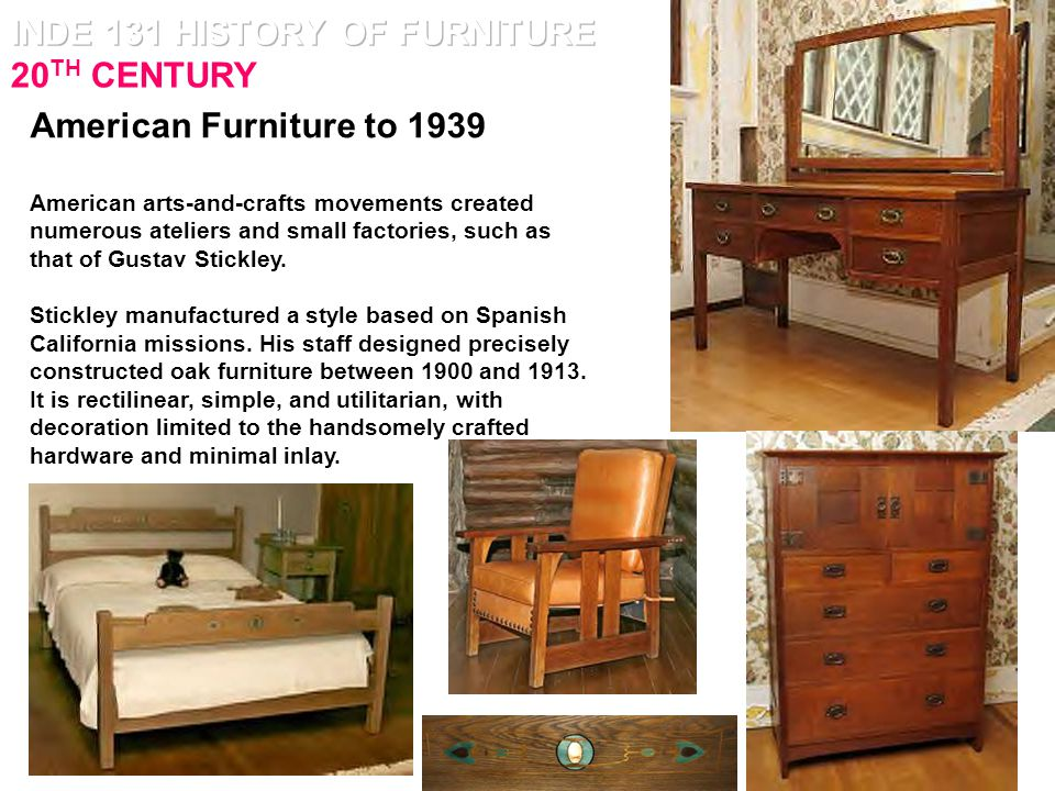 INDE 131 HISTORY OF FURNITURE 20TH CENTURY Ppt Video
