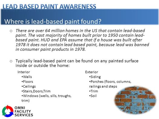 Where Is Lead Based Paint Found