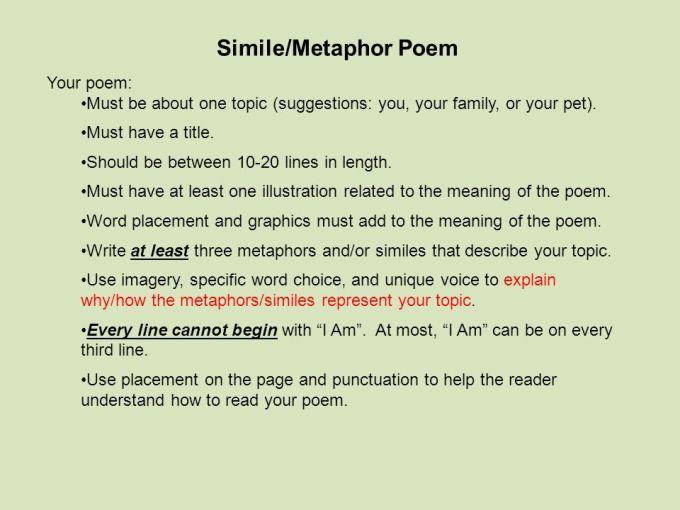 Poems Containing Metaphors Textpoems