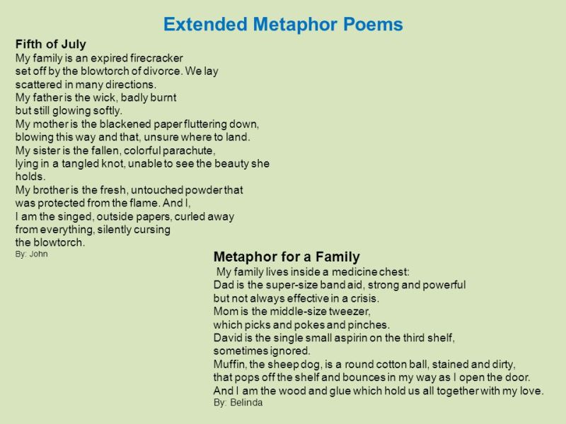 Metaphor Poem Examples Short Poemsrom