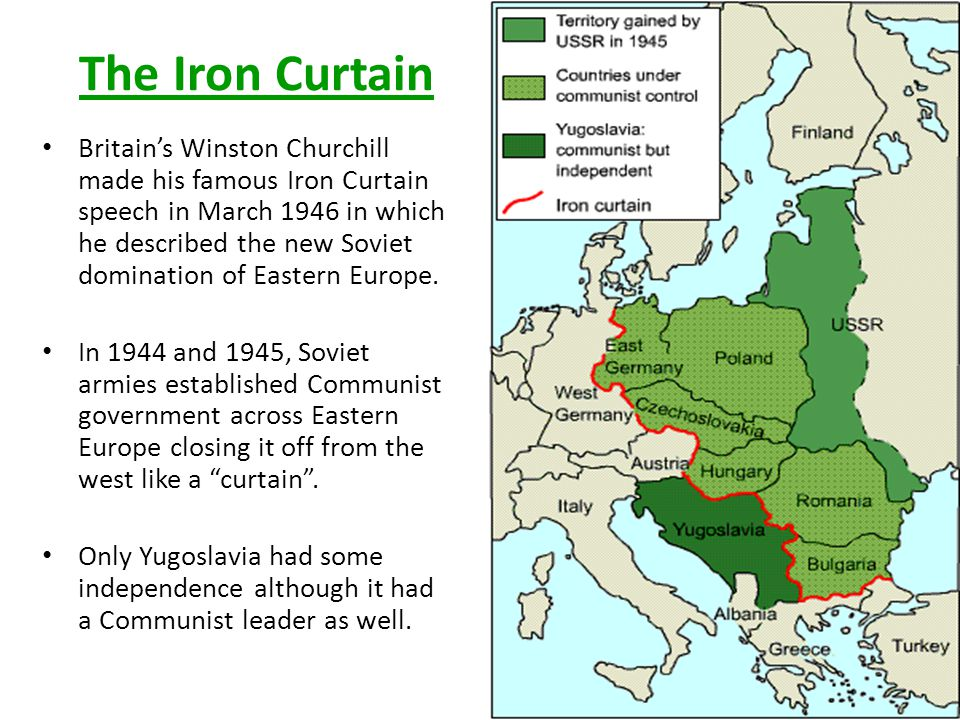 Iron Curtain Mon April Ppt Online