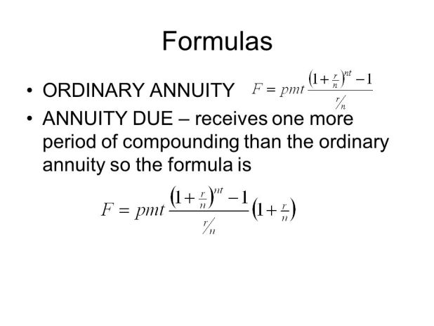 annuity equation