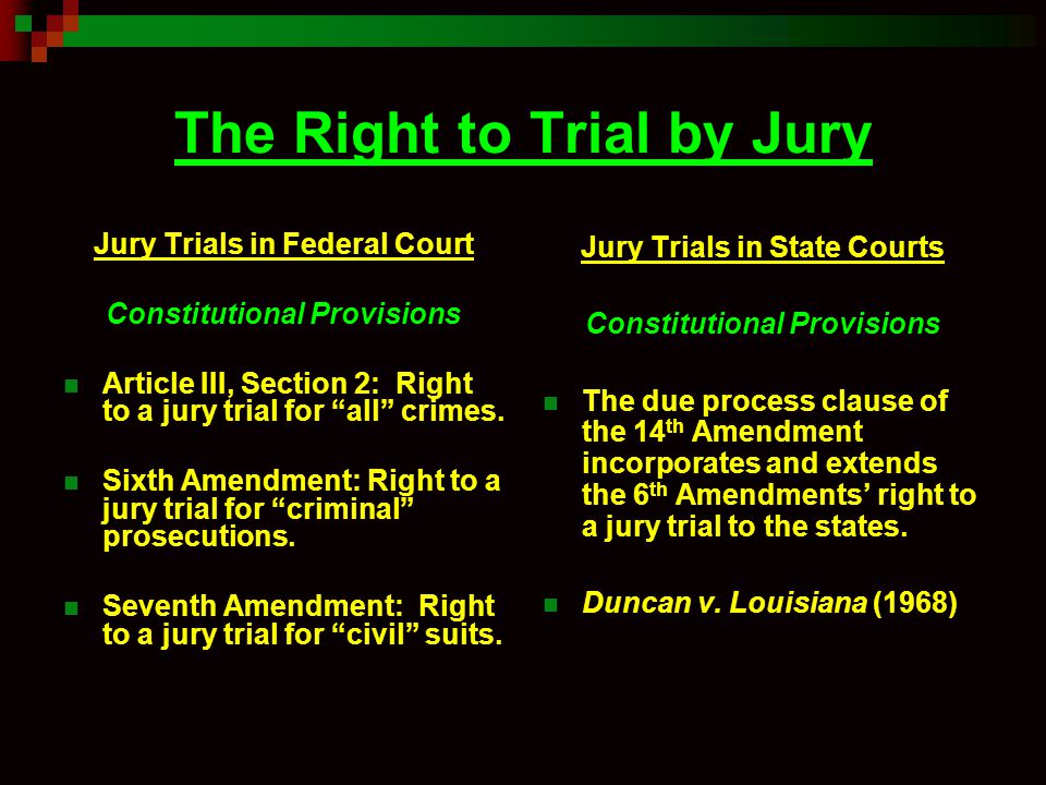 Difference Between Bench Trial And Jury Trial