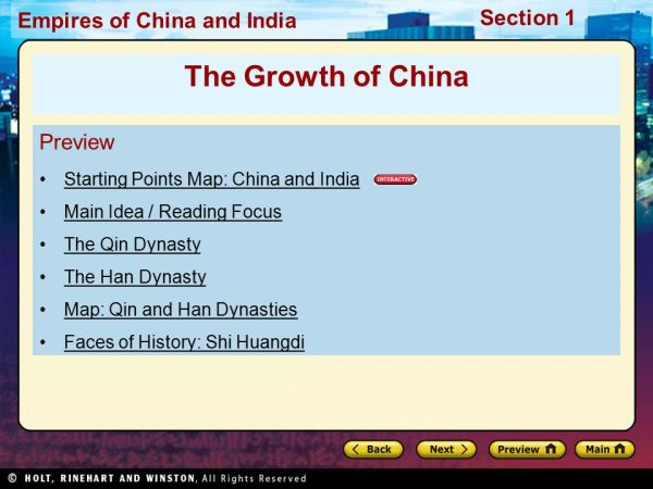 The Growth of China Preview Starting Points Map: China and ...