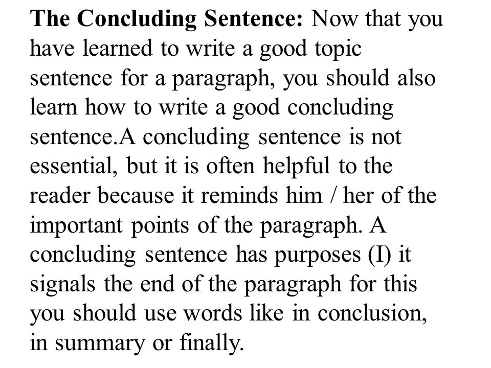 how to write a good topic sentence