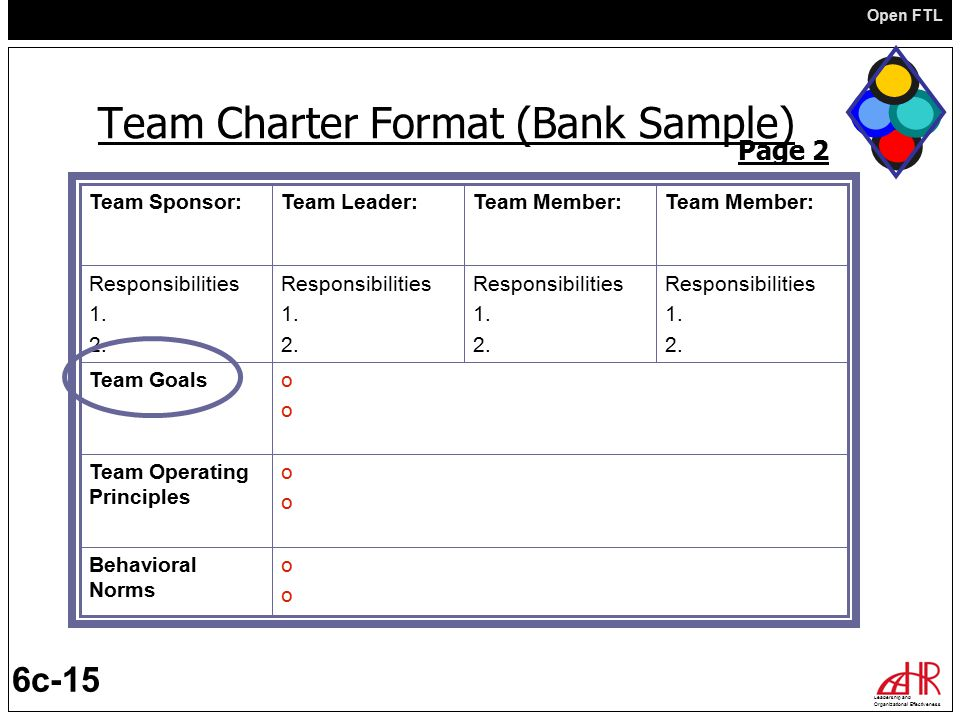 Team Charter Template Examples