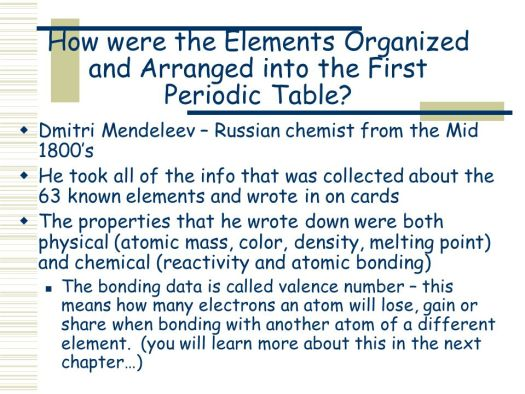 The elements on periodic table are arranged by number of classification of elements the periodic table ppt online urtaz Images