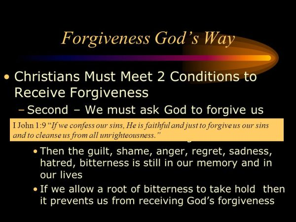 Forgiveness and Discerning Our Bitter Roots - ppt video ...