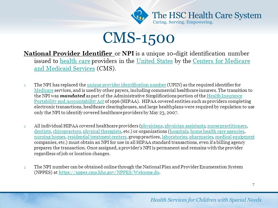 Completing A CMS 1500 Form.