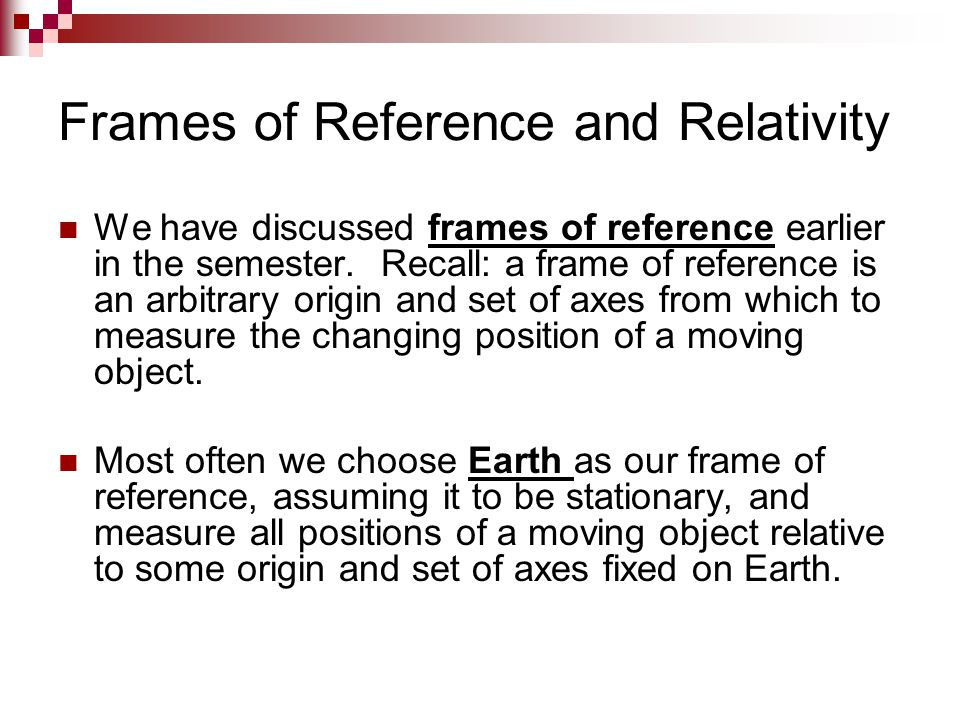 Ppt On Frame Of Reference | Framess.co