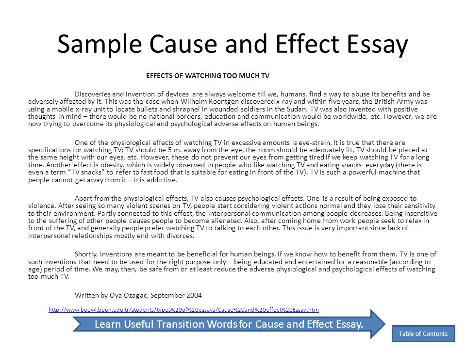 Cause Essays. Image Titled Write A Cause And Effect Essay Step 1 ...