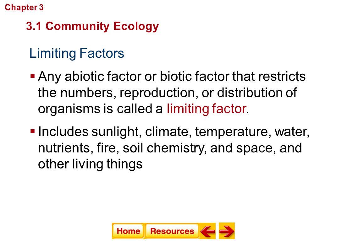 Chapter 3 Communities Biomes