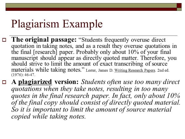 Paraphrasing A paraphrase is a restatement of someone else ...
