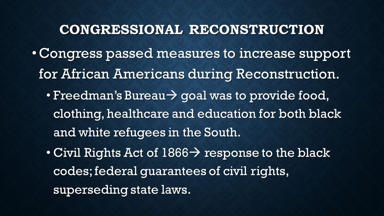 Image result for reconstruction era act 1866