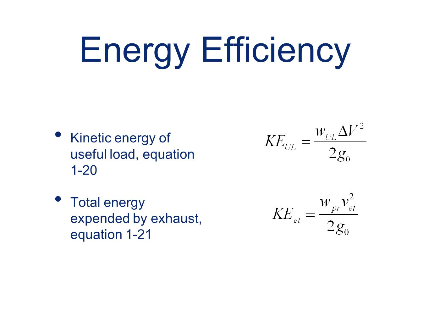 Kinetic Energy Equation