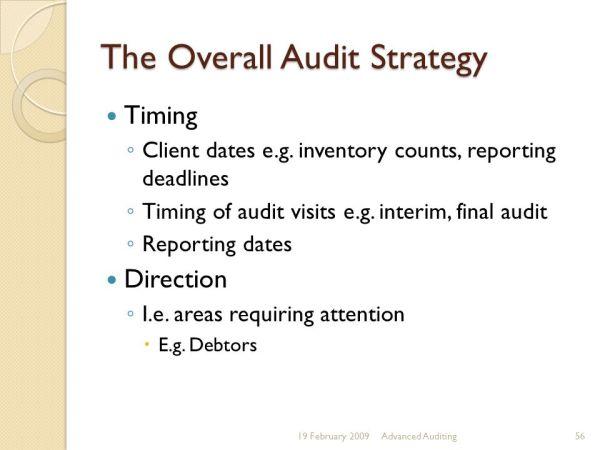 Advanced Auditing. - ppt download