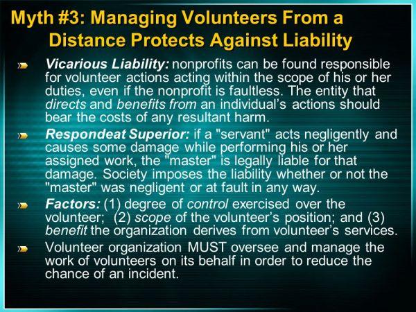 Economic & Legal Impact of Utilizing Volunteers - ppt download
