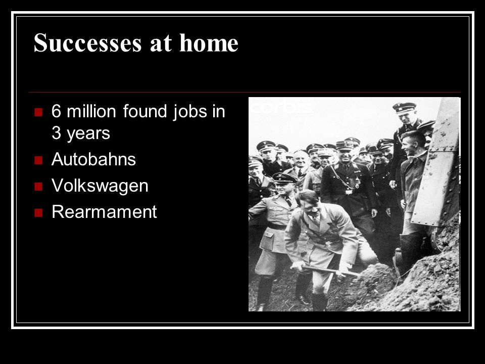 Image result for hitler 6 millions jobs