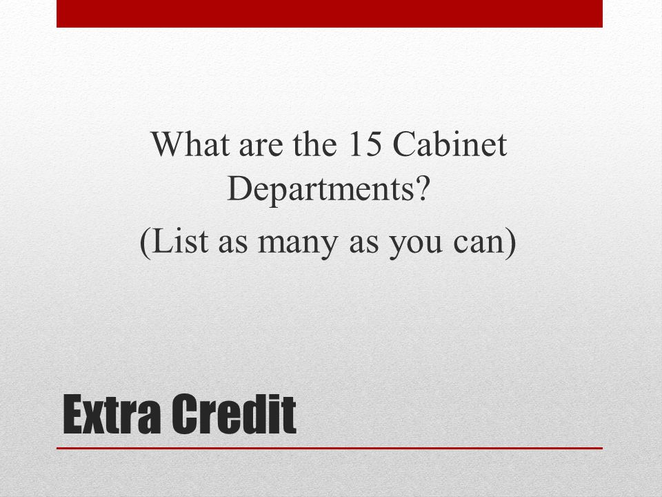 52 What Are The 15 Cabinet Departments