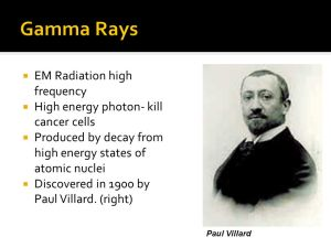 Uses of Electromagic Radiation in Medical Science  ppt