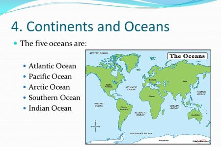 Map Of Major Oceans. Map Of Oceans On Earth, Map Of Prime Meridian ...