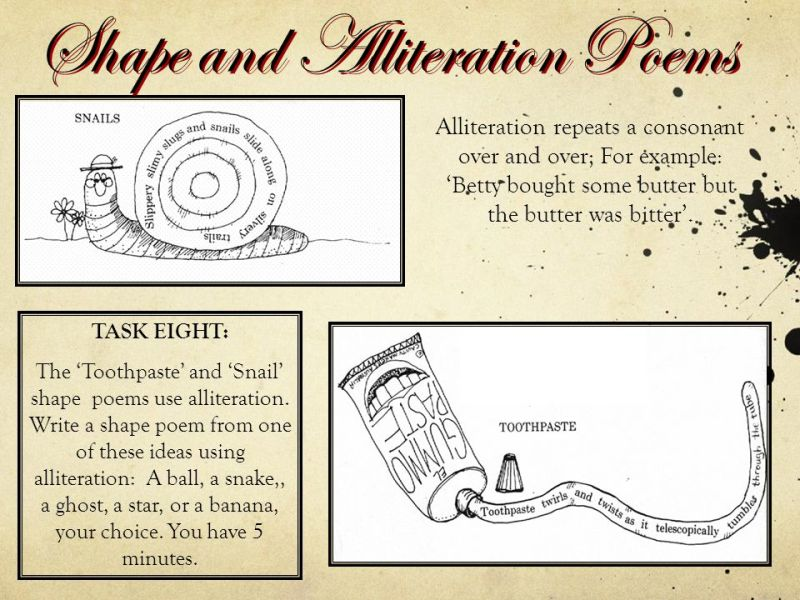 Examples Of Alliteration Poems Image Collections Resume Cover