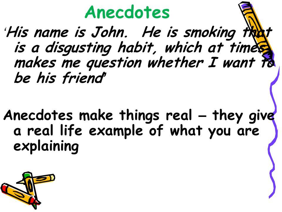 Examples Anecdotes Writing
