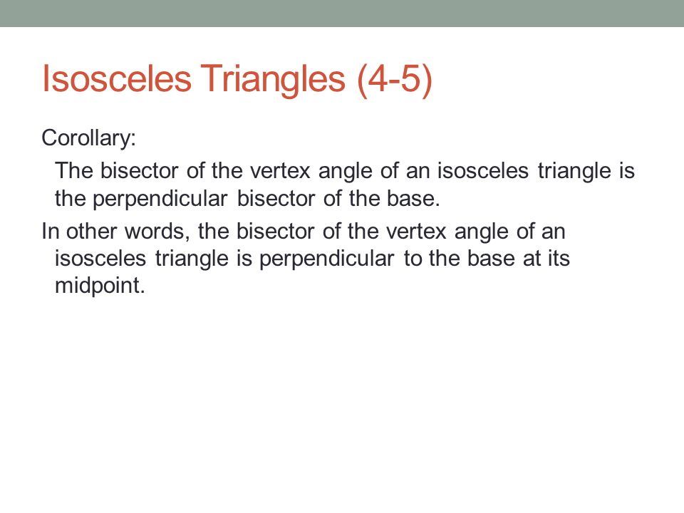Base Angle Theorem Corollary