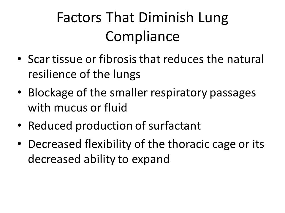 Types Compliance Lungs