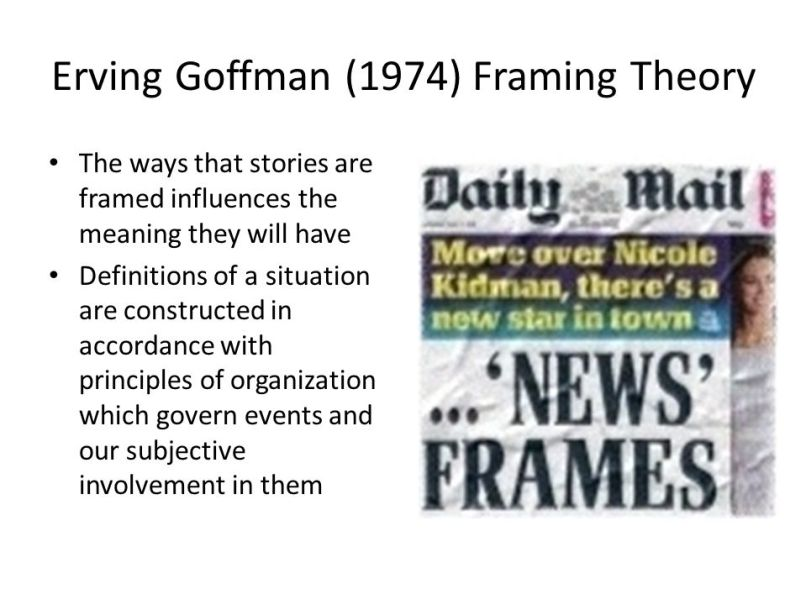 Erving Goffman Framing Theory | Framess.co