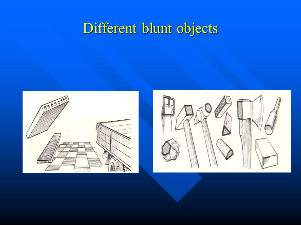 Injuries Caused By Blunt Objects Falling From Height