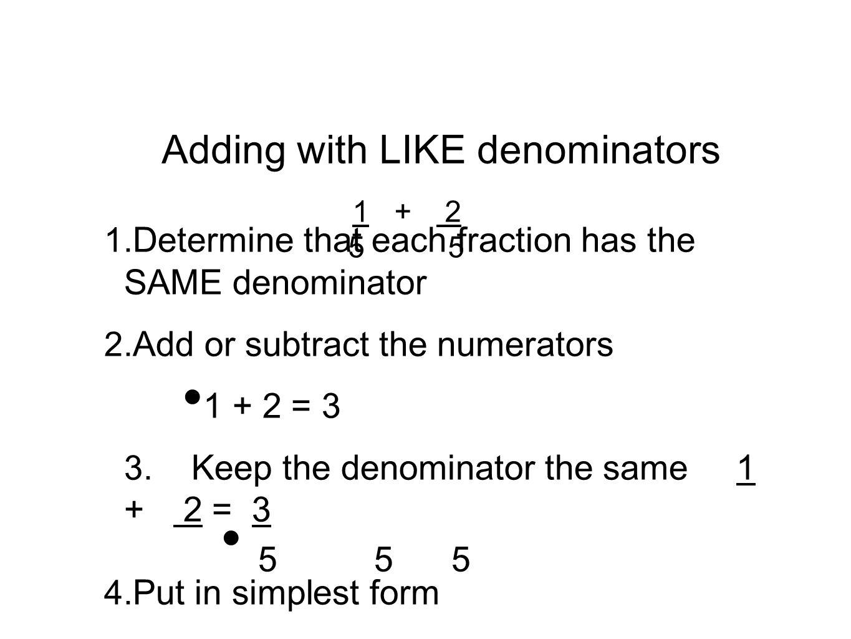 Worksheet Least Common Multiple Denominator