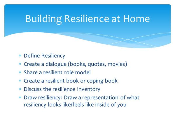 Building Resilience in Children By: Michelle Villegas ...