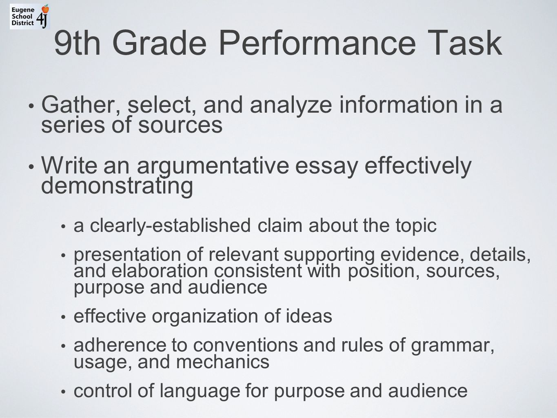 Ccss Performance Tasks
