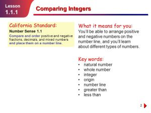 Comparing Integers Lesson ppt video online download