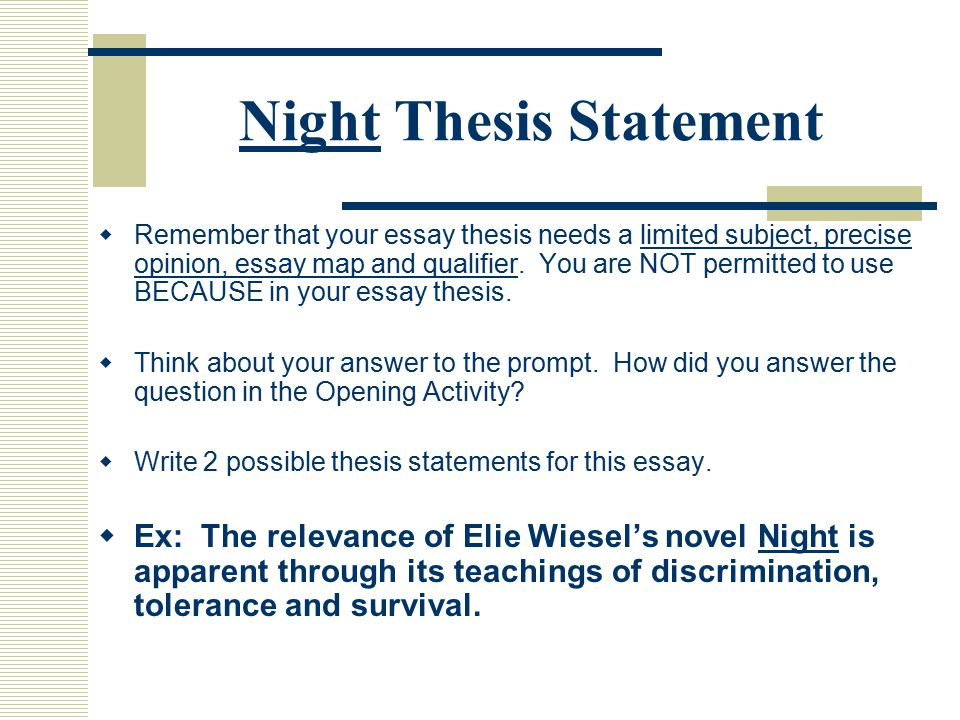 English Essay Example  Comparative Essay Thesis Statement also English Essays For High School Students Elie Night Wiesel Essay Business Essay Structure