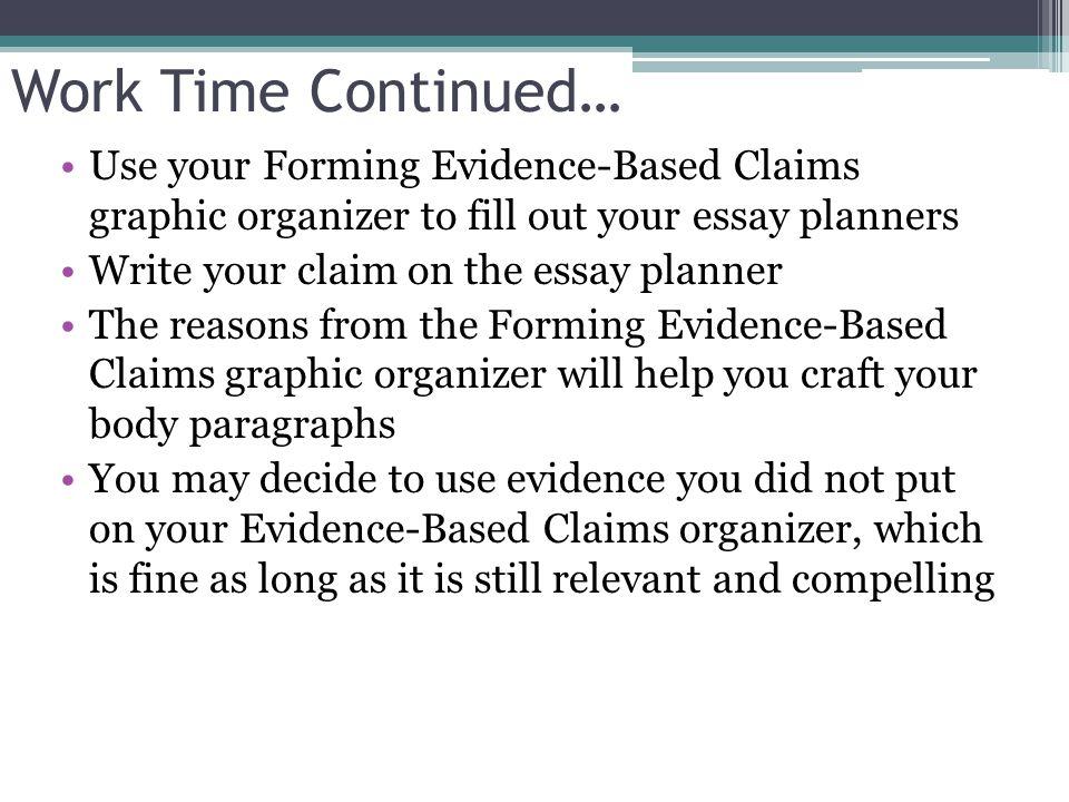 Organizer Counterclaim Claim Graphic