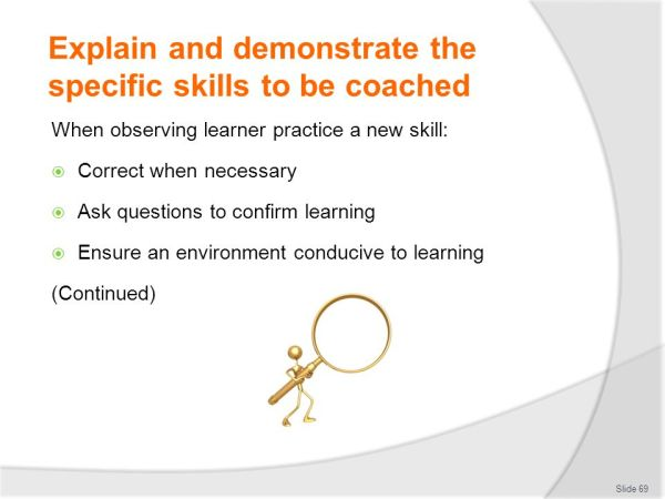 COACH OTHERS IN JOB SKILLS - ppt download