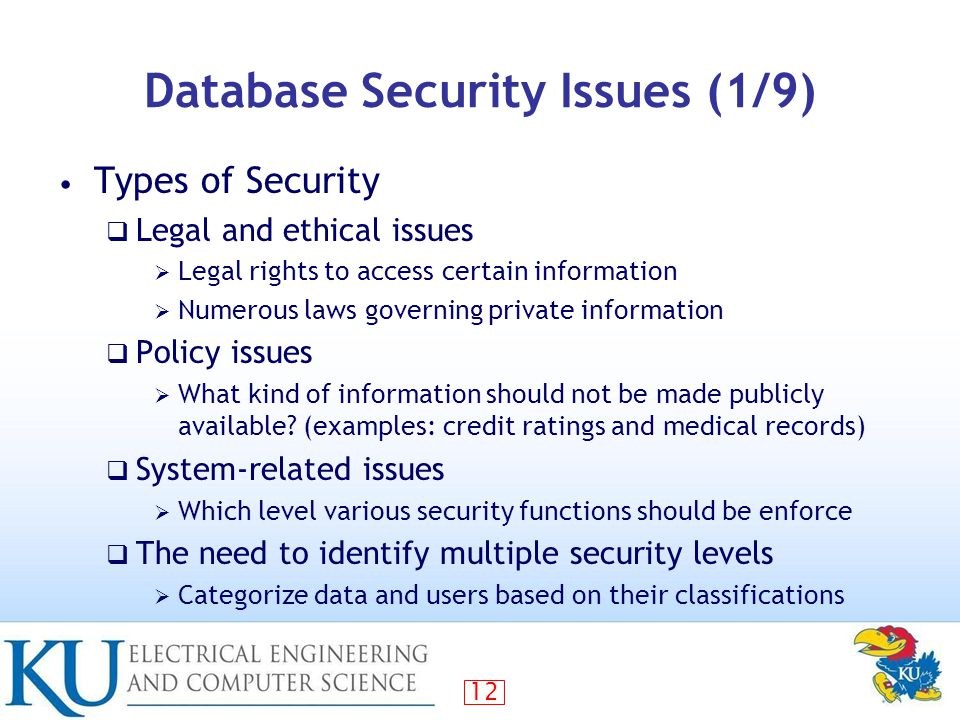 Database Security Problems