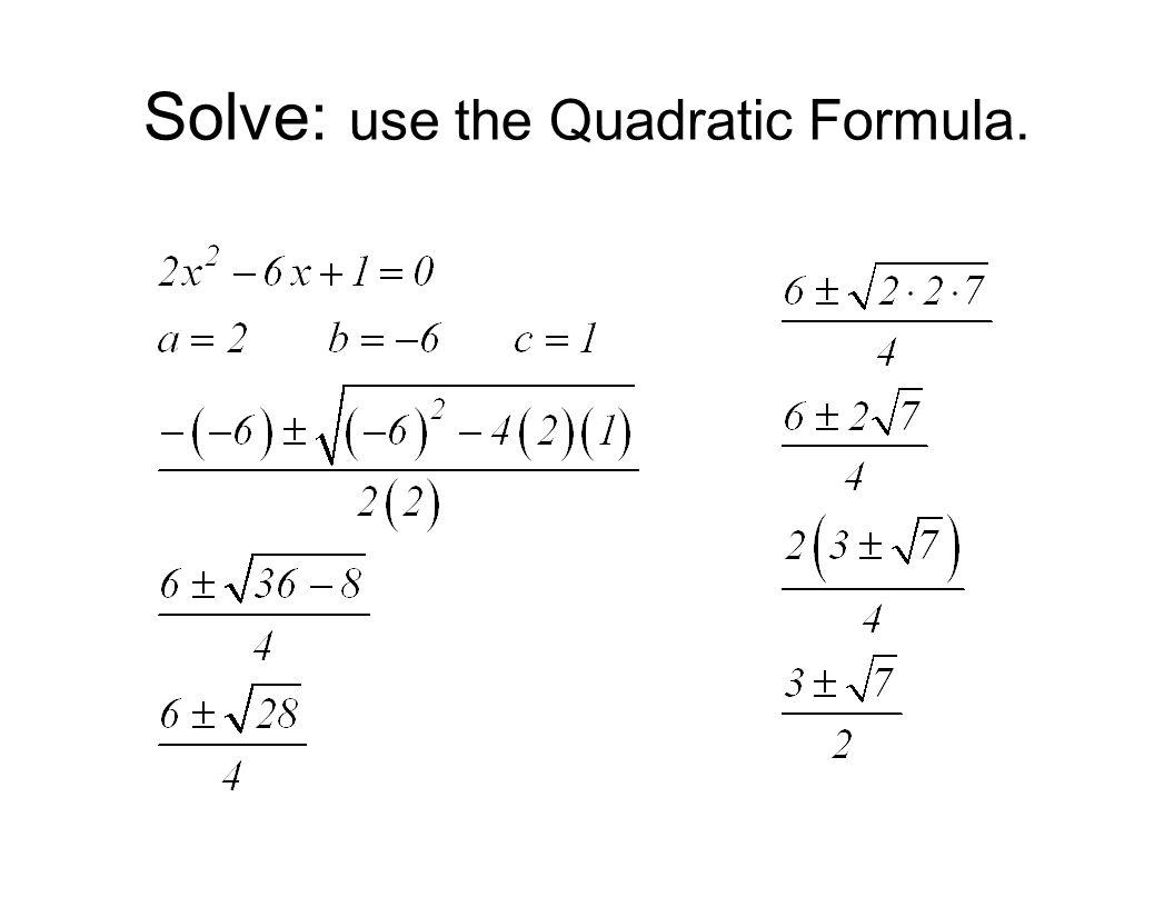 Quadratic Equations Msjc San Jacinto Campus