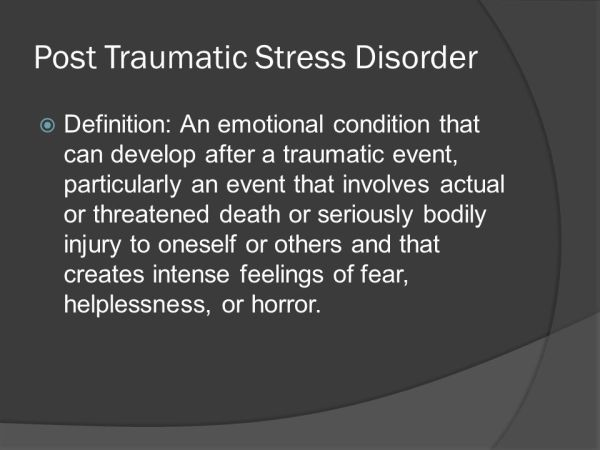 Post Traumatic Stress Disorder (PTSD) - ppt video online ...