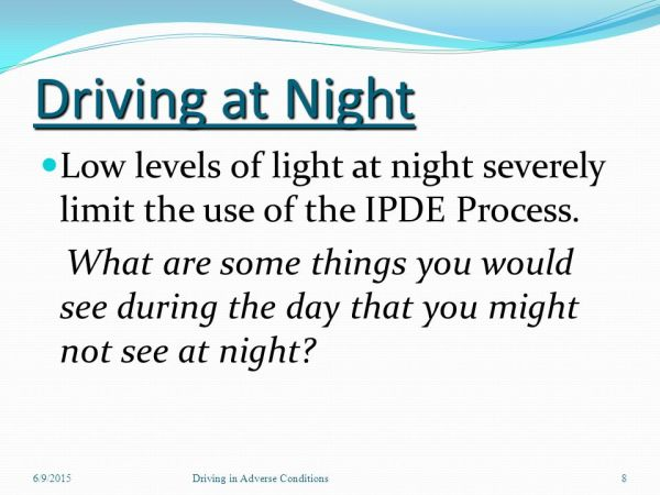 Driving in Adverse Conditions - ppt video online download