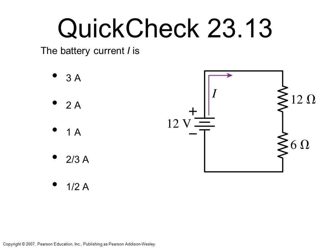 Chapter 23 Circuits Topics Sample Question