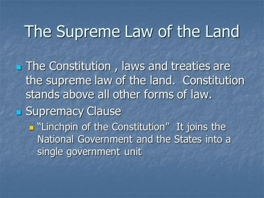 Image result for U.S. Constitution says 'Treaties' are Supreme Law of the Land 'not' the Constitution itself