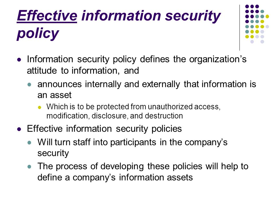 Information Security Policy Definition